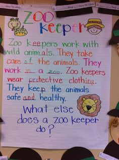 We finished up learning about the zoo over here. We started off learning about t… We finished up learning about the zoo over here. We started off learning about the zoo keeper and what they do. Then we made zoo keepers an… Preschool Zoo Theme, Preschool Lesson Plans, The Zoo, Kindergarten Language Arts, Kindergarten Writing, Language Activities, Zoo Crafts, Zoo Animals, Wild Animals