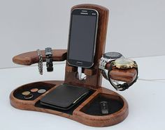 Wood Organizer Docking Station mens Anniversary gift Nightstand organizer Glasses holder Charging dock Wooden phone stand Valentines Gift - Accesorios y ropa Accesorios y ropa Accesorios y ropa Welcome to our website, We hope you are satis - Wedding Gifts For Men, Personalized Wedding Gifts, Wedding Men, Trendy Wedding, Wedding Unique, Wedding Ideas, Gift Wedding, Personalised Gifts For Husband, Personalized Christmas Gifts