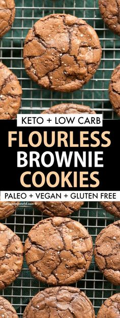 Healthy FLOURLESS Brownie Cookies Recipe that is sugar free, low carb and secret. - Healthy FLOURLESS Brownie Cookies Recipe that is sugar free, low carb and secretly low calorie! Brownie Cookies, Keto Cookies, Low Calorie Cookies, Chewy Chocolate Cookies, Dairy Free Chocolate Chips, Low Calorie Desserts, Sugar Free Cookies, Cookie Calories, No Calorie Foods
