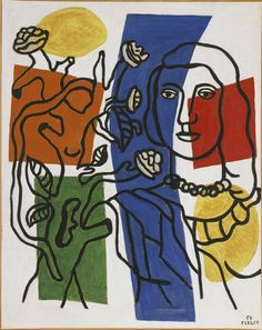 Girl with Plant / Fernand Leger / 1954 / oil on canvas