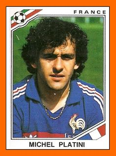 Michel Platini of France. 1986 World Cup Finals card. Uefa Football, Football 2018, Football Awards, Football Tournament, Football Icon, National Football Teams, World Football, Michel Platini, Soccer Stars