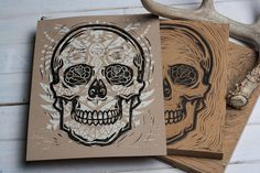 Sugar Skull - Block print