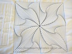 Quilting free motion quilting a zentangle- click through for an excellent video tutorial Quilting Stencils, Quilting Templates, Quilting Rulers, Longarm Quilting, Free Motion Quilting, Quilting Tutorials, Quilting Projects, Quilting Ideas, Quilting Stitch Patterns