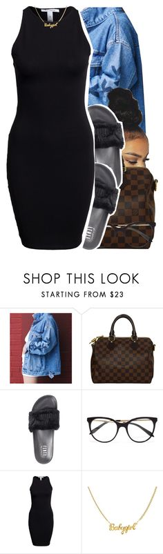 """7.07.17"" by trinityannetrinity ❤ liked on Polyvore featuring Louis Vuitton, Puma, Victoria Beckham and NLY Trend"