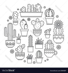 linear design, potted cactus. elements of a corporate logo. Download a Free Preview or High Quality Adobe Illustrator Ai, EPS, PDF and High Resolution JPEG versions.