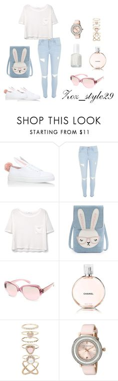 """""""#Bunny #zoz_style29"""" by zainab-alzire ❤ liked on Polyvore featuring Minna Parikka, River Island, MANGO, Michael Kors, Chanel, Accessorize, Ted Baker and Essie"""