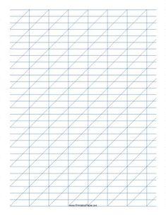 Printable Calligraphy Practice Sheet