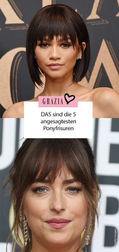THAT are the 5 most fashionable fringe hairstyles- DAS sind die 5 angesagtesten Ponyfrisuren You want to get a pony cut? Then you can get inspiration from these stars 😍 These are the most beautiful hairstyles! Bob Hairstyles 2018, Bob Hairstyles With Bangs, Fringe Hairstyles, Short Hairstyles For Women, Pony Hairstyles, Bangs Hairstyle, Homecoming Hairstyles, Hairstyles For Round Faces, Indian Hairstyles