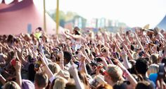 Audience At Outdoor Music Festival by monkeybusiness. Audience At Outdoor Music Festival Forecastle Festival, Festival Guide, Chicago Summer Festivals, Leeds Beckett, Event Management, Best Songs, Music Lovers, Introvert, Good Music