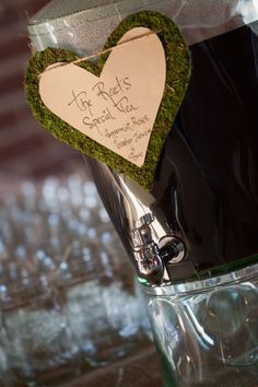 Rustic Wedding - Put your specialty beverage in this dispenser to be enjoyed by your guests.