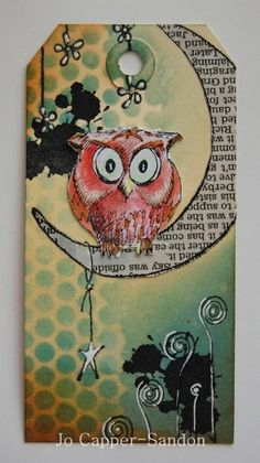 Jo Blogs  Cute idea! A good way to use all my owl punches and stamps!