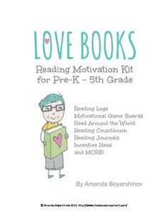 Reading Motivation Kit and Recording Charts for Elementary School