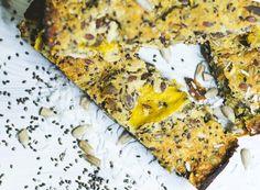 energy bar with mango and chia