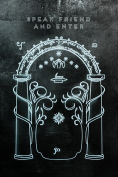 Speak Friend, and enter. Paint this on front door in glow in the dark paint.... I am a genius