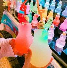 It's not Starbucks but I like it👌✌ Candy Drinks, Fun Drinks, Yummy Drinks, Yummy Food, Colorful Drinks, Cute Food, I Love Food, Cute Water Bottles, Tumblr Food