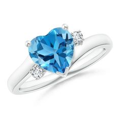 Rings Disciplined Swiss Blue Topaz Gemstone 925 Silver Jewelry Ring Size 7