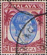 Malay State of Malacca 1949 King George VI Head SG 15 Fine Used Other Asian and British Commonwealth Stamps HERE!