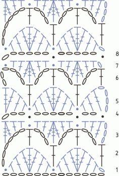 Схема вязания крючком ажурного узора