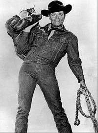 """I recently fell in love with this pre-""""Hawaii Jack Lord show called """"Stoney Burke."""" It's the weirdest concept - contemporary cowboy noir. Well, contemporary for the early Stay with 'em, Stoney! Old Western Movies, Handsome Jack, Tv Westerns, Old Shows, Great Tv Shows, Old Tv, Classic Tv, Classic Hollywood, Vintage Hollywood"""