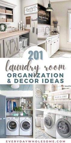 201 Laundry Room Organization & Home Decor Design Ideas to makeover your mudroom or use these as new build ideas when building your home into a farmhouse, classic or vintage look. DIY Storage, organization, minimalist ideas including rustic wood signs, wall decor, vases, decorative baskets, decals, floating shelves and hangers, metal signs, buckets, lost socks bins & signs, towel & clothing racks, cleaning labels, lint bins, powdered laundry detergent scoops. #laundryroom #laundrystorage Laundry Storage, Laundry Room Organization, Diy Storage, Storage Organization, Storage Baskets, Storage Ideas, Organisation Hacks, Organising Hacks, Organizing Ideas