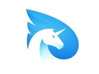 Pegasus animal logo design ideas and guidelines to create one Best Logo Design, Brand Identity Design, Branding Design, Graphic Design, Branding Ideas, Ui Design, Pegasus Logo, Unicorn Logo, Logo Minimalista
