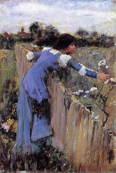 The Flower Picker / John William Waterhouse