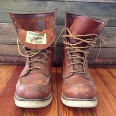Men's Vintage Red Wing Irish Setter Boots - Size 10