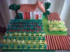 Maquetas escolares  Casa de campo