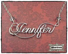 Large+Size+Personalized+Sterling+Silver+Calligraphy+por+SilverTrove,+$74.97