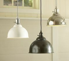 lighting over island {pottery barn}
