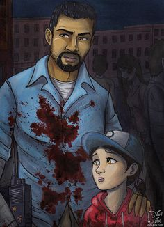 Lee Everett and Clementine from The Walking Dead (Telltale Game) twdg season 1