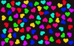 Colorful Hearts Wallpaper Picture LSY Bubbles Love Pictures Heart