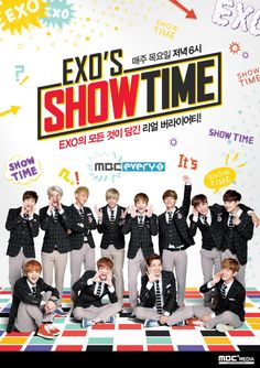 """EXO's Show Time"" is the group's first reality program featuring just themselves. The show's concept is based on the members answering the fans' questions, and the members plan to ""reveal everything."" Their show premiered on November Showtime Shows, Exo Showtime, Sehun Oh, Chanyeol Baekhyun, Cnblue, Btob, Kim Jong Dae, Exo 12, Exo Group"
