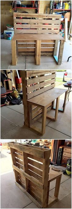 Catching with so many more superb old shipping wood pallets use ideas, this elegant designed mud kitchen effect is one of the incredible options. It do consists of the standing shelving unit where you will be finding it as the perfect option for you to add the kitchen accessories.