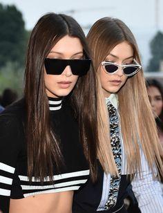 Bella & Gigi Hadid || leaving Versace S/S 2017, Milan Fashion Week (September 23, 2016)