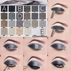 Smoky Eye Makeup, Eye Makeup Steps, Eyeshadow Makeup, Makeup Tips, Beauty Makeup, Eyeshadow Ideas, Makeup Ideas, Beauty Tips, Star Makeup