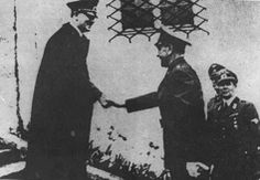 Hitler greets Croatia's wartime leader Ante Pavelic