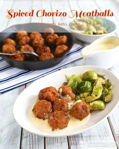 Spiced Chorizo Meatballs (low-carb, keto, paleo)