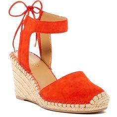39880eccd88812 Franco Sarto Mariska Wedge Sandal ( 50) ❤ liked on Polyvore featuring shoes