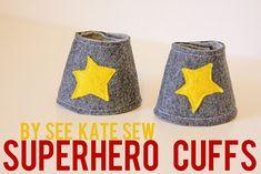 Handmade Dress Up: DIY Superhero Cuffs Tutorial