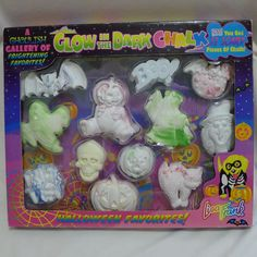 Lisa Frank Glow In The Dark Halloween Chalk NIP 1990s 12 Pieces Skull Ghost Bat | eBay