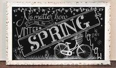 Spring Chalkboard Print No matter how long the by TreanneSchuttArt, $10.00