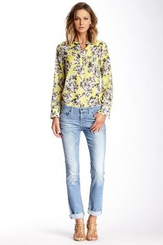 Kate Mid Rise Straight Leg Jeans by Big Star in 22 Year Dream light blue denim