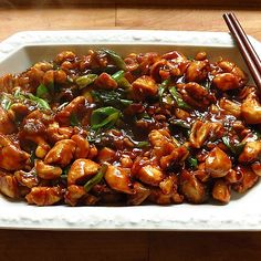 Glazed chicken with hoisin sauce and cashew nuts, a nice recipe from the wok category. Ratings: Average: Ø Glazed chicken with hoisin sauce and cashew nuts, a nice recipe from the wok category. Hamburger Meat Recipes, Sausage Recipes, Healthy Chicken Recipes, Turkey Recipes, Asian Recipes, Beef Recipes, Ethnic Recipes, Drink Recipes, Chinese Recipes