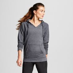 Womens Activewear Sweatshirt - Ebony Heather XL - C9 Champion