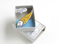 The Instant Comfort Pocket Box happy fish by kimslittlemonsters, €7.95