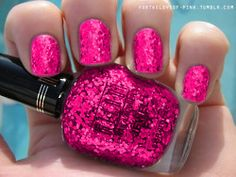 Pretty pink nails want to try this brand heard they have some good sparkles!
