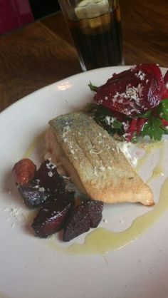 Salmon and beetroot at Jamie's italien