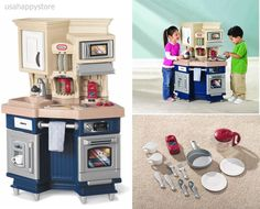 Little Tikes Kitchen Pretend Play Sets Kids Toddler Food Toy Cabinet Cooking Fun #LittleTikes
