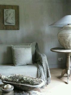 Rustic shades of grey Provence Interior, Cozy Living, Living Room, Hygge Home, Minimalist Living, Rustic Interiors, Home Staging, Rustic Furniture, Renting A House